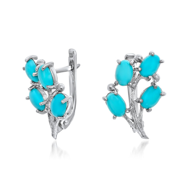925 Silver Earrings with Turquoise