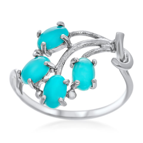 925 Silver Ring with Turquoise