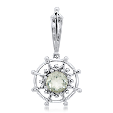 925 Silver Pendant with Prasiolite