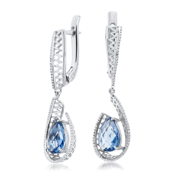 875 Silver Earrings with Tanzanite
