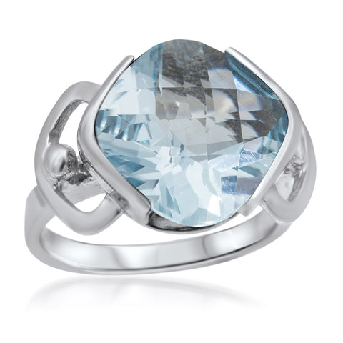 925 Silver Ring with Blue Topaz