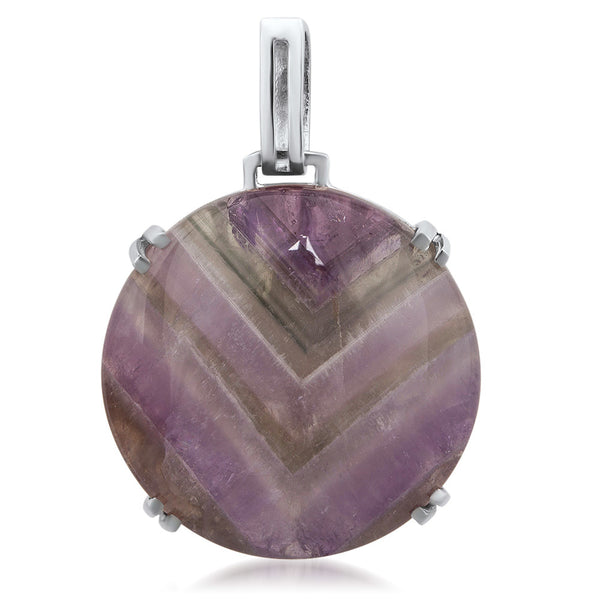 875 Silver Pendant with Amethyst