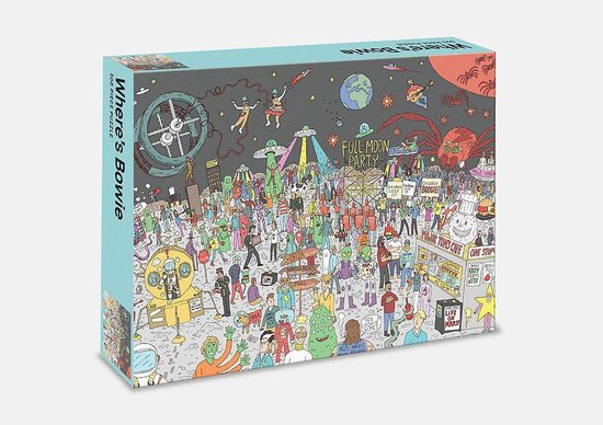 Where's Bowie puzzle - A 500-piece Quest to Find Our Beloved Starman - Boekenmarkt de Markies