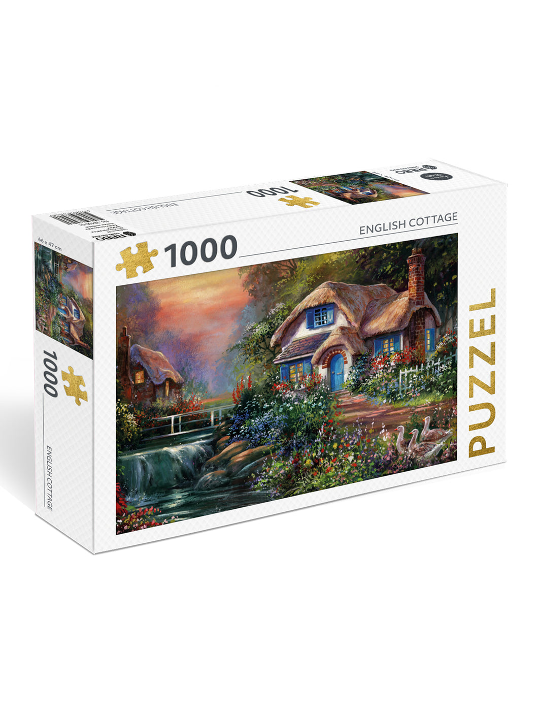 Puzzel English Cottage (1000) - Boekenmarkt de Markies