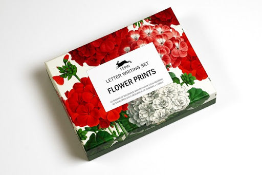 FLOWER PRINTS - briefpost set - Boekenmarkt de Markies