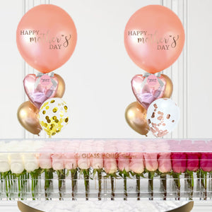 Rectangulaire 100 + 2 Mother's Day Balloon Bouquets