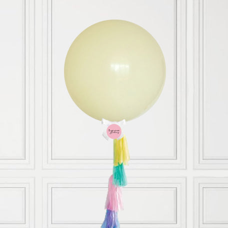 Pastel Yellow Jumbo Balloon