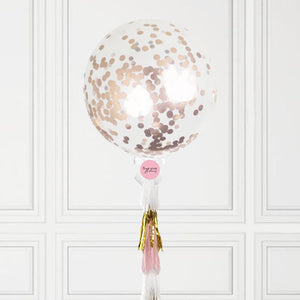 Jumbo Rose Gold Confetti Balloon