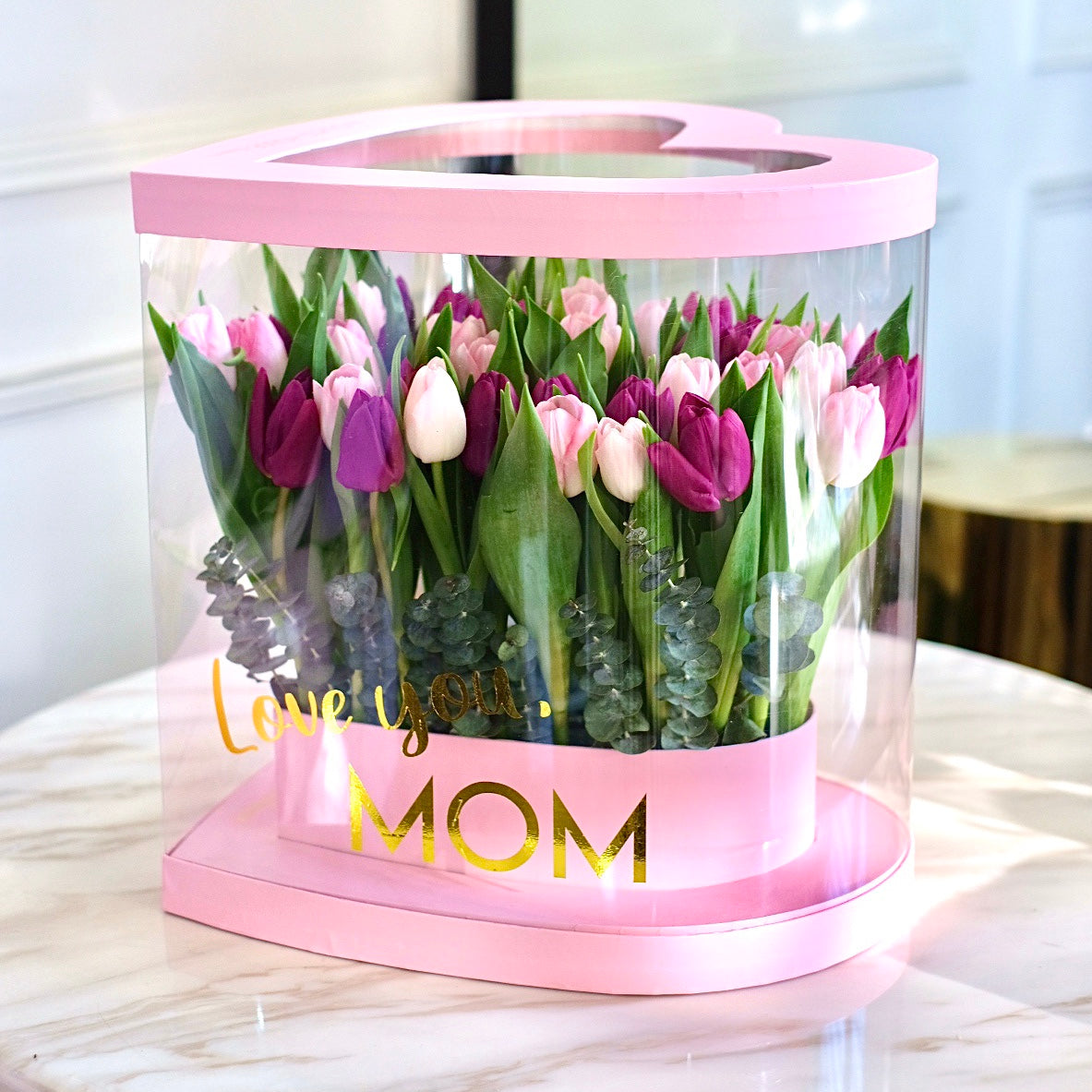 Tulips - Pink Amour Box