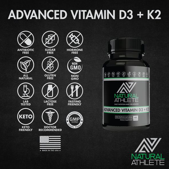 Advanced Vitamin D3 + K2 w/ BioPerine