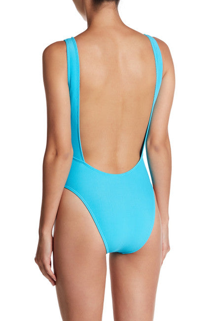 Basta Surf High Leg Eye Maillot Solid One-Piece Swimsuit - TURQ