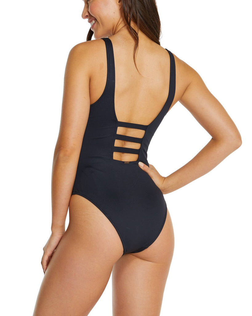 BAKU ECO ESSENTIALS RING FRONT ONE PIECE SWIMSUIT