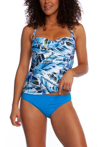 LA BLANCA Two Cool Halter Sweetheart Tankini Top