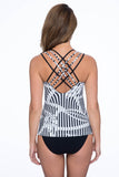 Profile by Gottex Bamboo Strappy X-Back Tankini Top