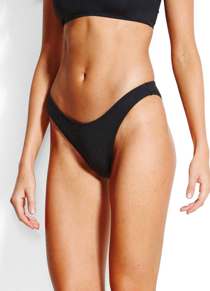 SEAFOLLY ACTIVE HIGH CUT BIKINI PANTS BLACK