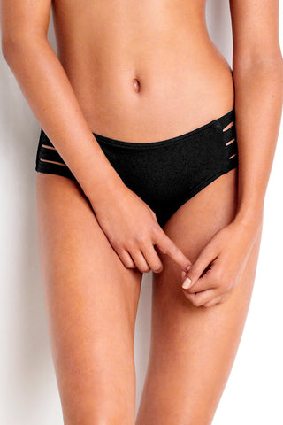 SEAFOLLY ACTIVE MULTI STRAP HIPSTER BIKINI PANT BLACK