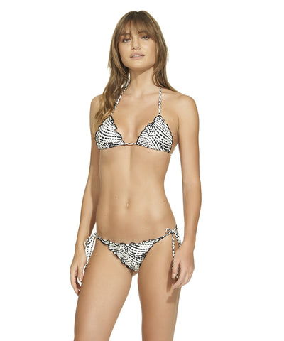 ViX Paula Hermanny Pearl Black Ripple Triangle Bikini