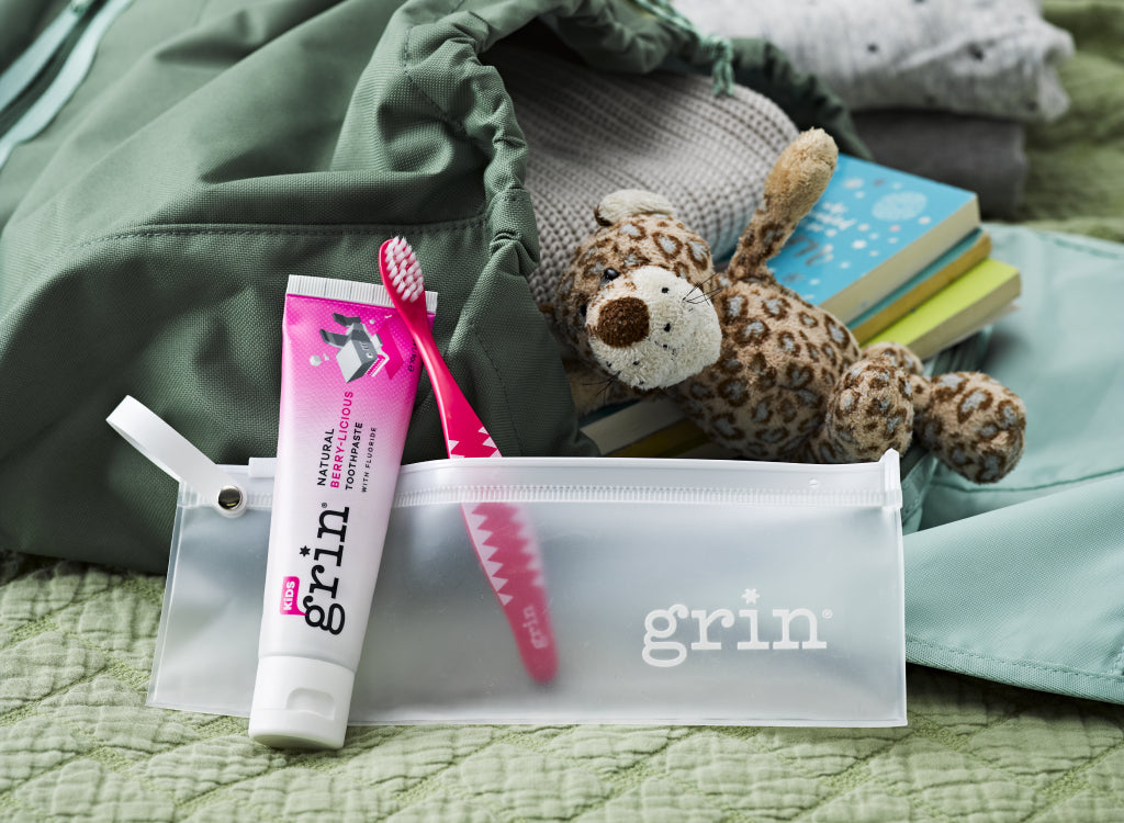 Grin Natural Kids Fluoride Toothpaste How do I take care of my toddler's mouth