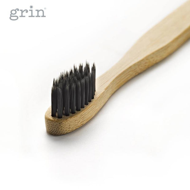 Grin Charcoal-Infused Bamboo Toothbrush - GRIN - Grinnatural