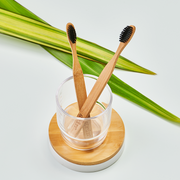 Grin Charcoal-Infused Bamboo Toothbrush - Twin Pack-Grin Natural US
