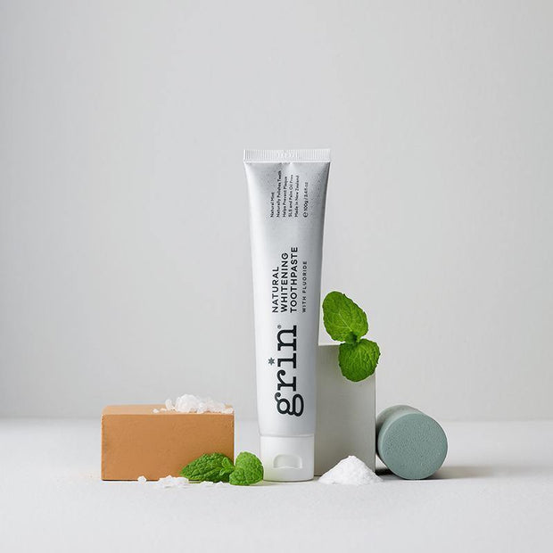 Grin Natural Whitening Toothpaste with Fluoride 100g - GRIN - Grinnatural