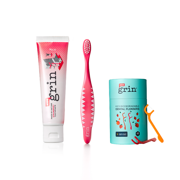 1-2-3 Grin Kids Oral Care Set-Grin Natural US