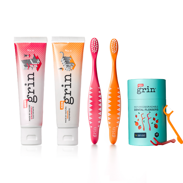 Grin Kids Fluoride Free Oral Care Pack-Grin Natural US