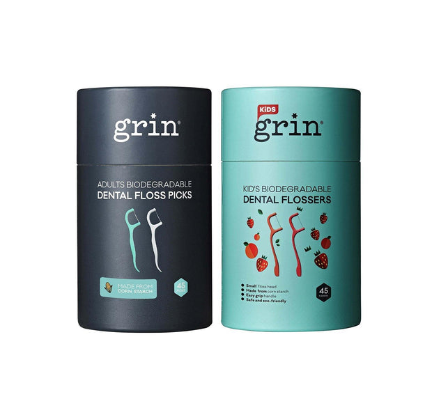Grin Biodegradable Dental Floss Family Pack - GRIN - Grinnatural
