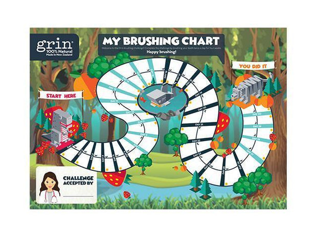 Grin Kids Brushing Challenge - GRIN - Grinnatural