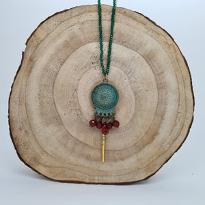 Ishtar Bronze and Jade Necklace
