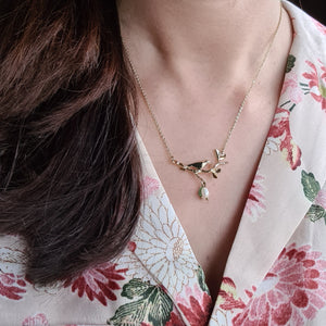 Bird and flower Necklace