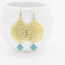 Load image into Gallery viewer, Blue Drop Earrings