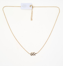 Load image into Gallery viewer, Gold Plated Silver,  Leaf Necklace
