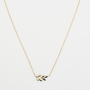 Gold Plated Silver,  Leaf Necklace