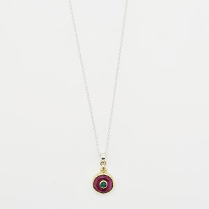 Graceful Red Silimanite Necklace