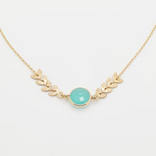 Load image into Gallery viewer, Goldplated Aqua Calcedony Necklace