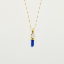 Load image into Gallery viewer, Moonstone and Blue Silimanite Necklace