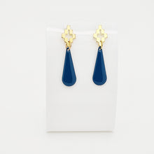 Load image into Gallery viewer, Persian Blue Drop Earrings