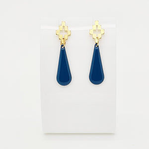 Persian Blue Drop Earrings