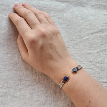 Load image into Gallery viewer, Magnificent Lapis lazuli Silver Bracelet
