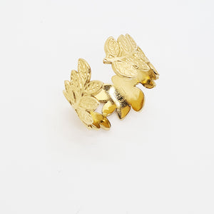 Stainless steel Adjustable Ring, Leaf