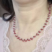 Load image into Gallery viewer, Silver 925 Necklace With Little Red Agate Natural Stones
