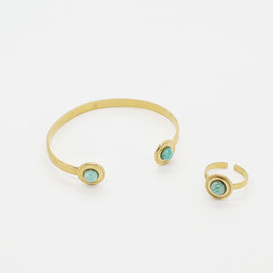 Pleasing Apatite Bracelet, Stainless steel