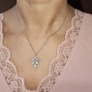 Leaf Silver Necklace