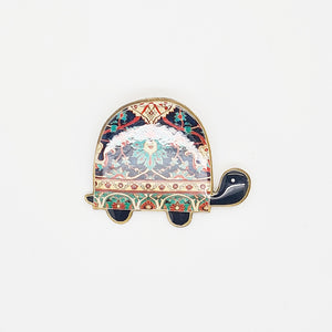 Caspian Turtle Brooch