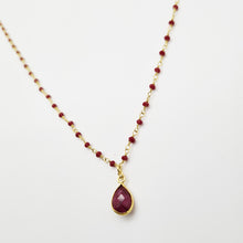 Load image into Gallery viewer, Ruby Goldplated Silver Necklace