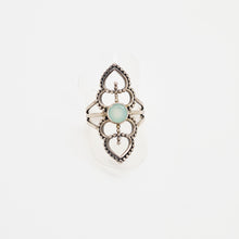 Load image into Gallery viewer, Silver Ring with Aqua Calcedonie
