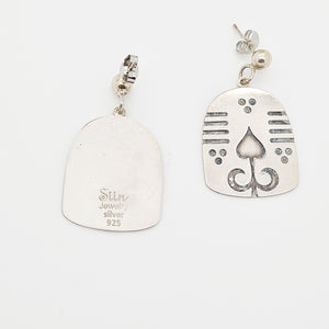 Charming Persian motifs Silver Earrings