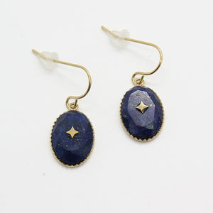 Anahid Lapis Lazuli Earrings - Yalda Concept Store Persan