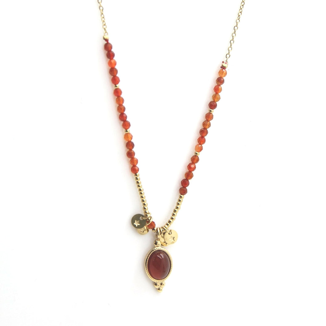 Anahid Little Agat Necklace - Yalda Concept Store Persan
